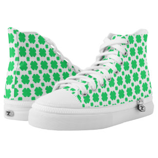 Clover Patterned Printed Shoes