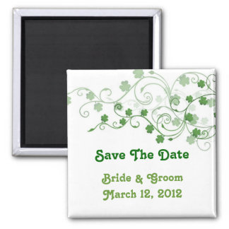 Clover Save The Date Magnet