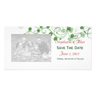 Clover Save The Date PhotoCards Photo Greeting Card