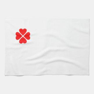 clover sheet heart sweet heart turn out well more  hand towel