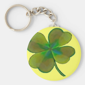 Clover sheets basic round button key ring