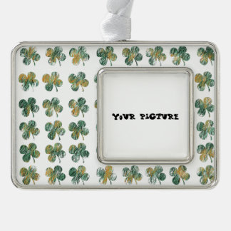 Clover Silver Plated Framed Ornament