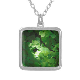 Clover Silver Plated Necklace