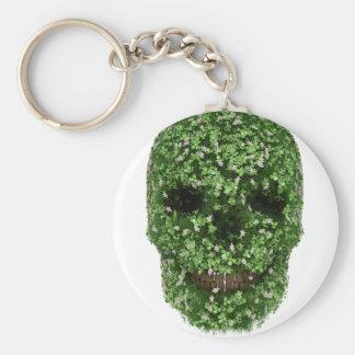 Clover Skull Keychain