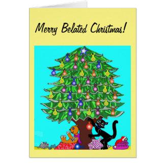 Clover the Cat's Christmas Card