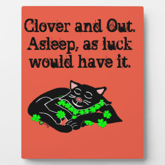 Clover The Lucky Black Cat Display Plaques