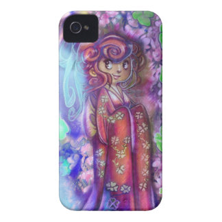Clovers and Cherry Blossoms Geisha Blackberry Case