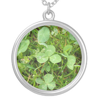 Clovers and Dewdrops Necklace