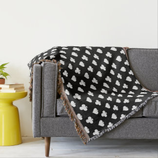 Clovers and Spades game room decor throw blanket