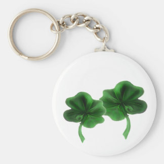 clovers basic round button key ring