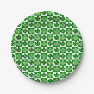 Clovers Paper Plate