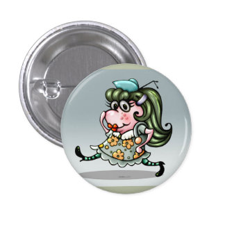 CLOVIS CUTE ALIEN CARTOON Round Button Small
