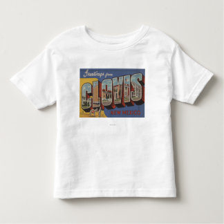 Clovis, New Mexico - Large Letter Scenes Toddler T-Shirt