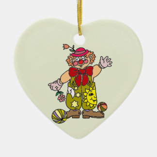 Clown 1 ceramic heart decoration