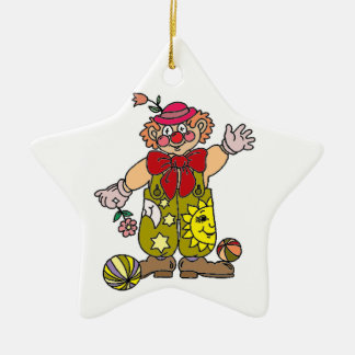 Clown 1 ceramic star decoration