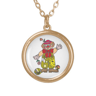 Clown 1 gold plated necklace