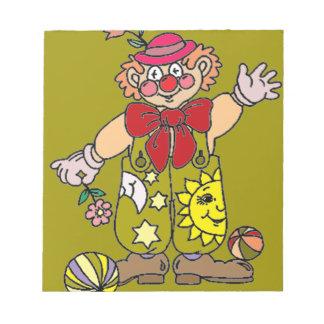 Clown 1 notepad