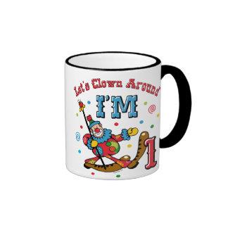 Clown Around 1st Birthday Mugs
