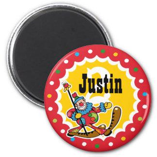 Clown Around 2nd Birthday Custom Magnet