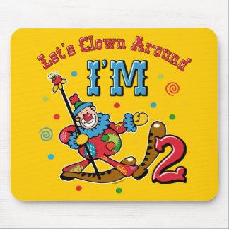 Clown Around 2nd Birthday Mouse Pad