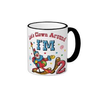 Clown Around 2nd Birthday Mugs