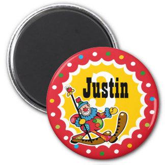 Clown Around 3rd Birthday Custom Magnet