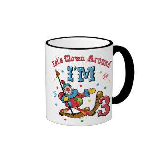 Clown Around 3rd Birthday Mugs