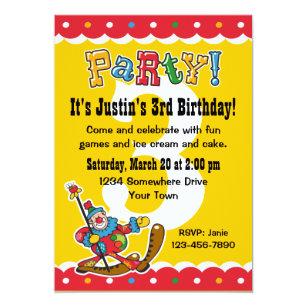 happy clown party invitations announcements zazzle au
