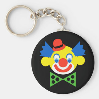 Clown - Art Gallery Selection Basic Round Button Key Ring
