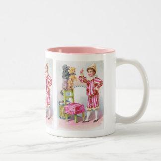 Clown Boy & Circus Dogs Coffee Mugs