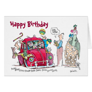 Clown Car Birthday Card