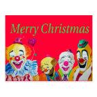 Clown Christmas Postcard