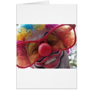 Clown closeup card