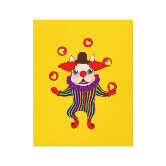 Clown Dog Frenchie entertains you with his love Canvas Print