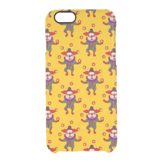 Clown Dog Frenchie entertains you with his love Clear iPhone 6/6S Case