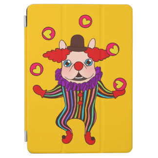 Clown Dog Frenchie entertains you with his love iPad Air Cover