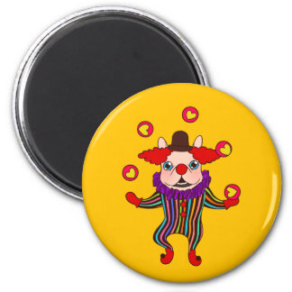 Clown Dog Frenchie entertains you with his love Magnet