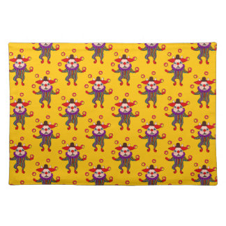 Clown Dog Frenchie entertains you with his love Placemat