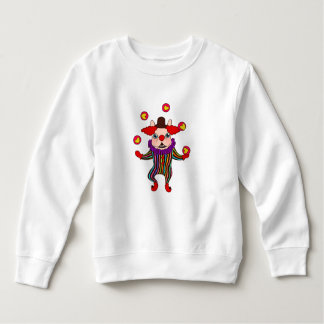 Clown Dog Frenchie entertains you with his love Sweatshirt