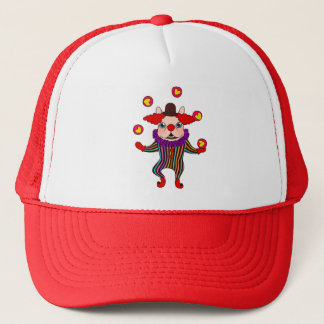 Clown Dog Frenchie entertains you with his love Trucker Hat