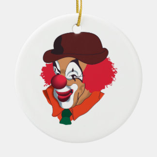 Clown Face Ceramic Ornament