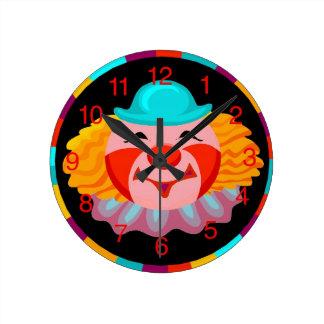 Clown Face Kids Clock