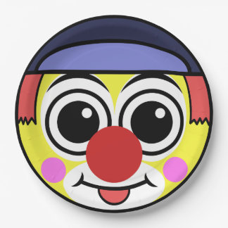 Clown Face Paper Plate