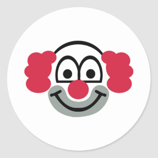 Clown face stickers