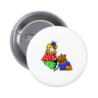 Clown fighting with Dog Button