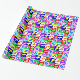 Clown Fish Kids Birthday Party Wrapping Paper