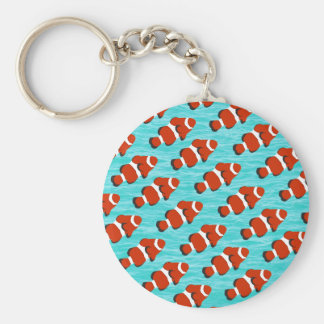 Clown fish pattern basic round button key ring