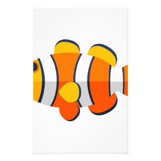 Clown Fish Primitive Style Stationery