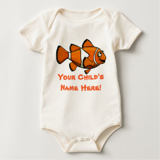 Clown Fish With  Your Child's Name Here! Rompers