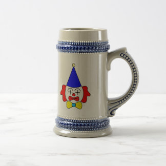 Clown - funny face. beer stein
